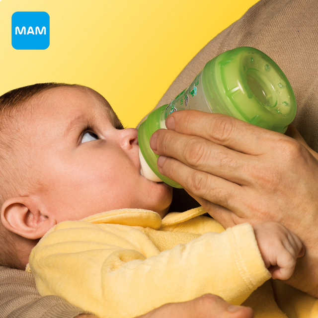 Free shipping MAM Anti-Colic newborn Baby Kids Silicone nipple Bottle cup 160ml/5oz  mamadeira Juice Milk Water Feeding