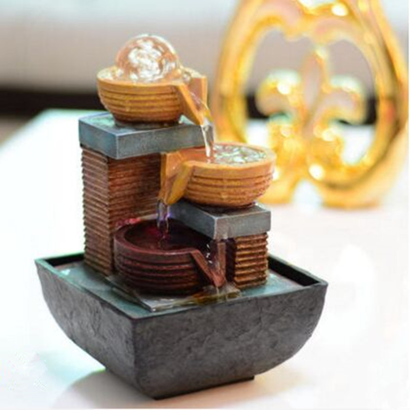 Free shipping Flow water fountain decoration feng shui wheel creative personality furnishing articles от Aliexpress INT