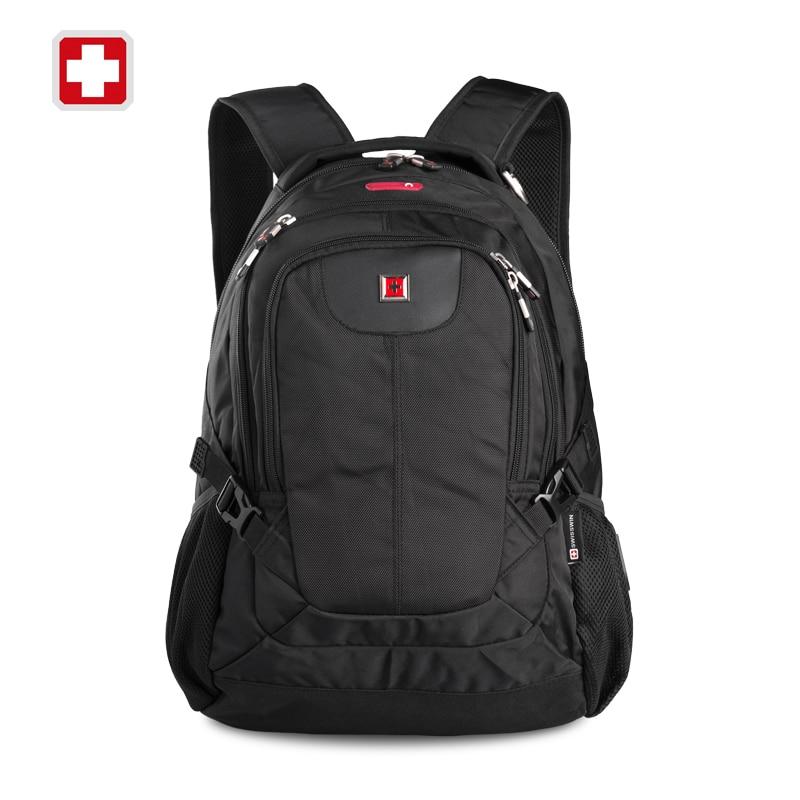 ФОТО Swisswin Quality Black Business Laptop Backpack Male 15