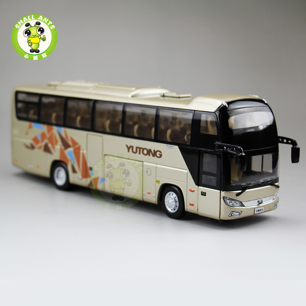 1:43 Scale China YuTong Bus Coach ZK6118H Diecast Metal Bus Model Toys Collection Hobby 1 43 ankai bus sightseeing tour of london bigbus big bus diecast model bus open top