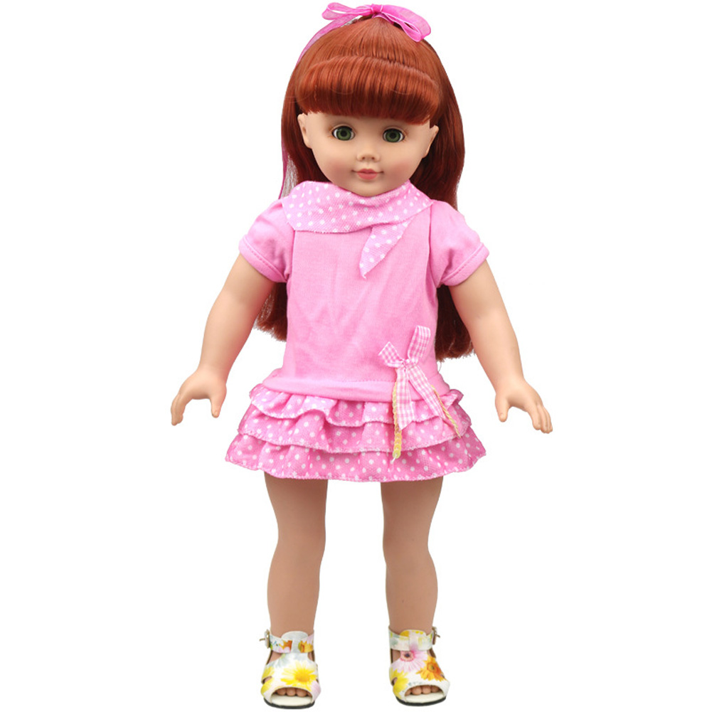 Dolls Dress for18 Inch American Girl Doll Dress Pink Mini Skirt