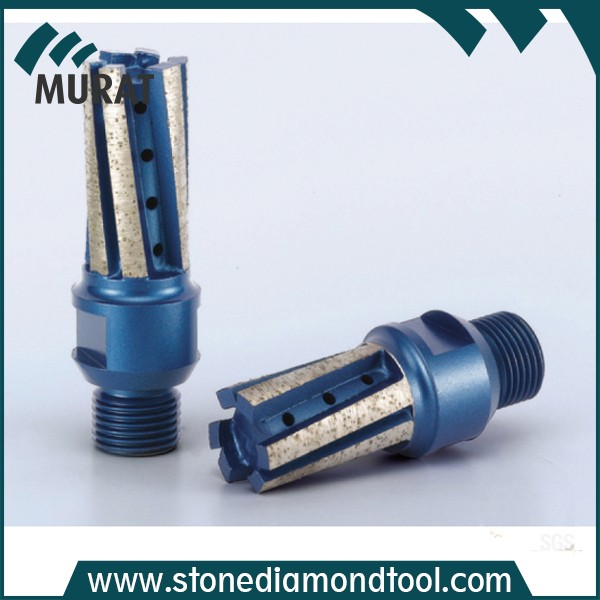 D20*40T*1/2''GAS diamond finger bit with strenthened bottom for stone drilling and milling