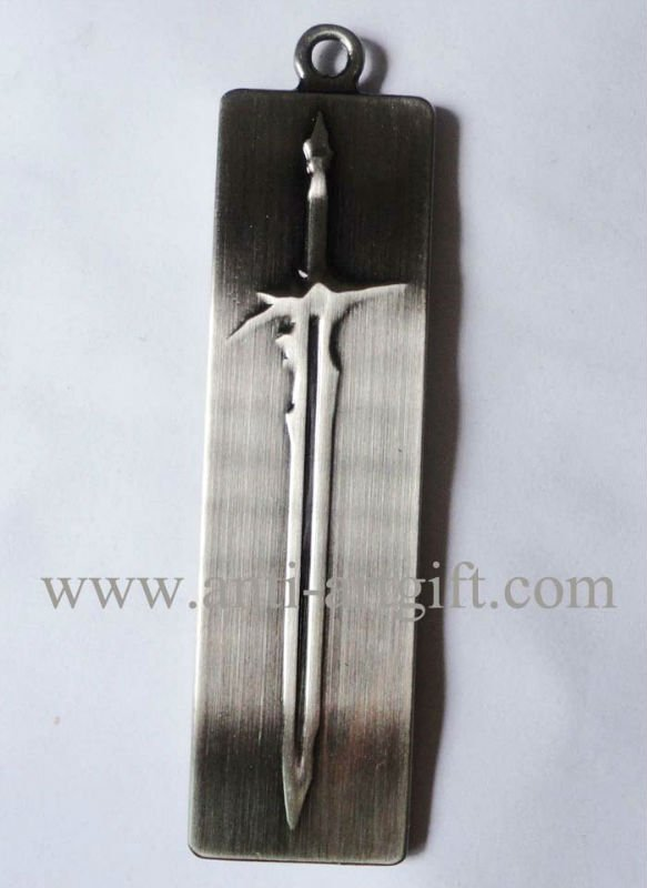 Индивидуальные античное серебро брелок литья Ретро Ремесло Необычные черный цвет без минимальный объем заказа