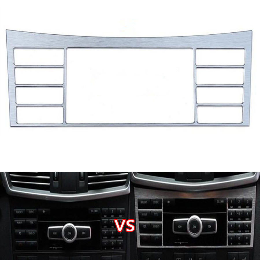 YAQUICKA Car Center Console Button Switch Panel Frame Cover Trim Styling For Mercedes Benz W212 E Class 2010-2015 Aluminum car center console panel decoration cover trim carbon fiber car styling 2pcs for mercedes benz new e class w213 200 300 2016 17