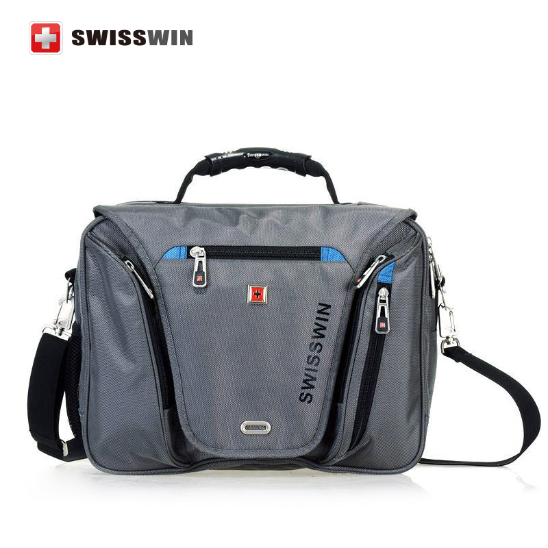 Swiss laptop Briefcase Waterproof men 15 inch laptop Bag women Multifunctional Men s Shoulder Bag portfolio