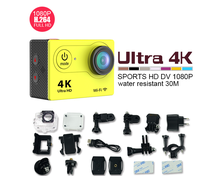 4K 12MP Motion Sports activities H9R With Distant Controller Digital Waterproof Video with 170d fish-eye lens Digital Digicam