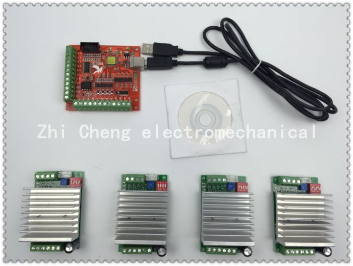 Cnc mach3 usb 4 axis kit 4pcs tb6600 1 axis stepper motor 4 axis stepper motor controller