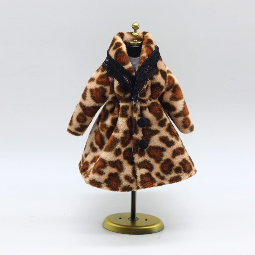 New Plush Coat Winter Put on Costume Snowsuit Clothes Outfit Garments For 1/6 Toy Barbie Doll coat