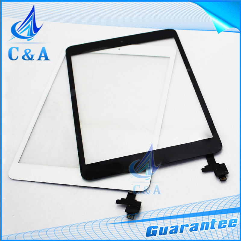 1 piece free shipping replacement parts for ipad mini 1 and for ipad mini 2 touch screen digitizer with button with IC +stickers