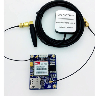 SIM808 instead of SIM908 module GSM GPRS GPS positioning SMS data transmission fast free ship 2pcs lot 3g module sim5320e module development board gsm gprs gps message data 3g network speed sim board