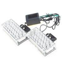 бесплатная доставка - светодиодные панели с 22 х 2 белый мигающий свет на мотоцикл, мотор, автомобили и грузовики # 004