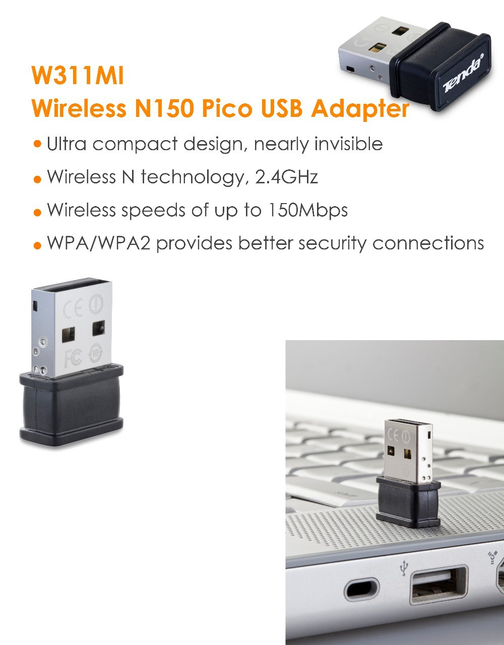 Us 2181 Tenda W311mi Wireless N150 Pico Usb Adapter English Os Compact And Smallest Design150mbpswpa Wpa2 24ghz 11n In Network Cards From Ultra Devices Parallel Flash Product Description