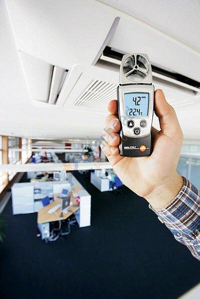 Testo 410-2 удобный лопастный зонд Анемометр, скорость ветра, скорость воздушного потока/температура/влажность, 0560 4102, дешевая