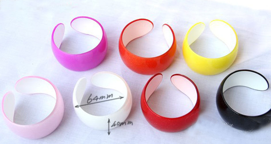 Free Shipping 12pc Lot Fashion Women S Acrylic Cuff Bangle Bracelet With Glitters 4 0cm Wide In Bangles From Jewelry Accessories On Aliexpress