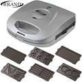 BRAND321 Waffle Maker, Elektrovafelnitsa waffle toaster maker electric, thin slim, home grill bentwood corrugations non-stick