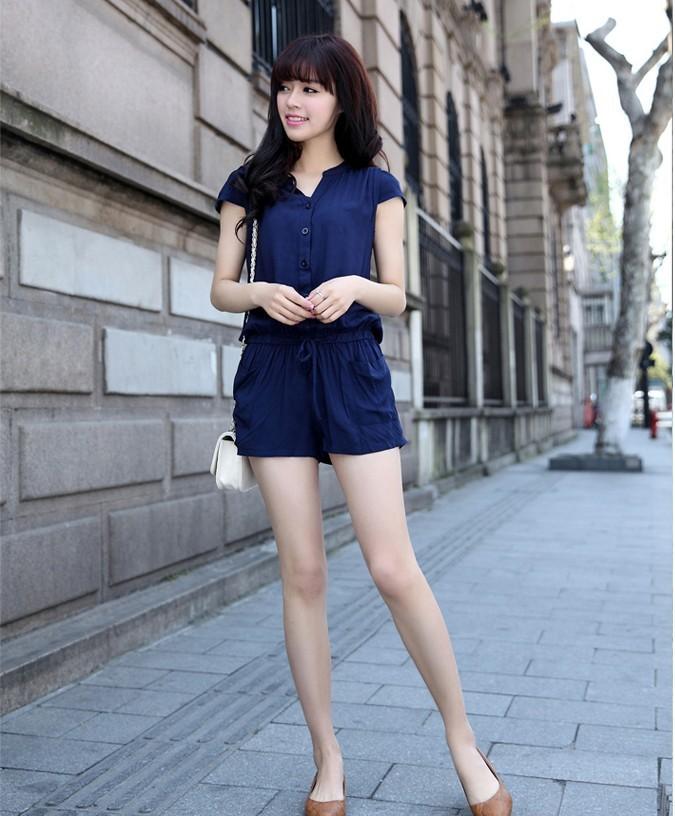 лето новый женский тонкий кусок брюки комбинезон шорты женские брюки # l9108