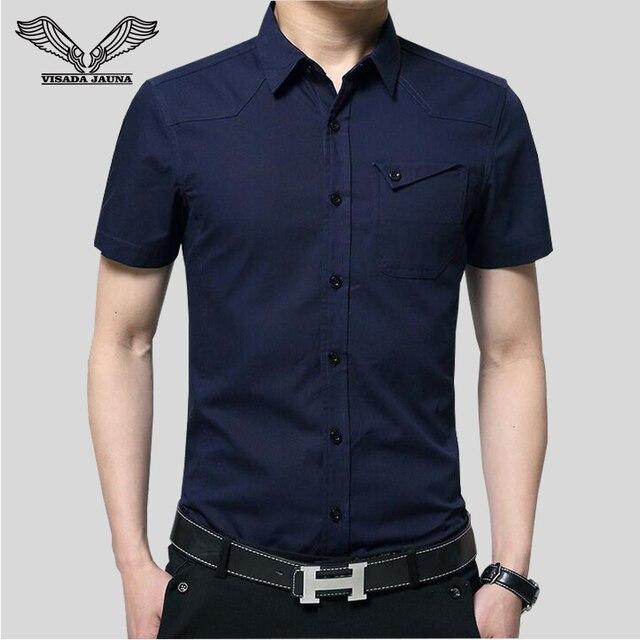 Hombres de la moda camisas 2017new lanzamientos de la marca de clothing manga corta de alta calidad popular de estilo europeo delgado chemise homme n953