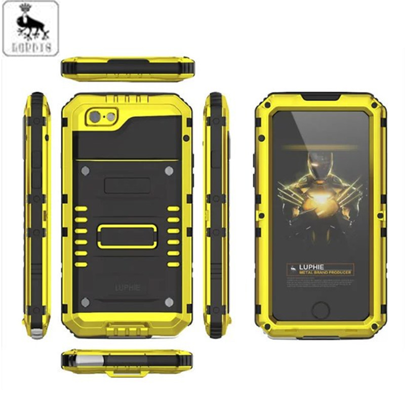 LUPHIE Brand Under Water Sealed Life Waterproof Metal Case For IPhone 6 6S & IPhone 6 6S Plus Aluminum Silicone Shockproof Cover