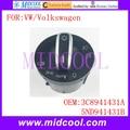 New Chrome Fog Lamp Light Headlight Switch use OE NO. 3C8941431A , 5ND941431B for Volkswagen VW Passat Golf Tiguan