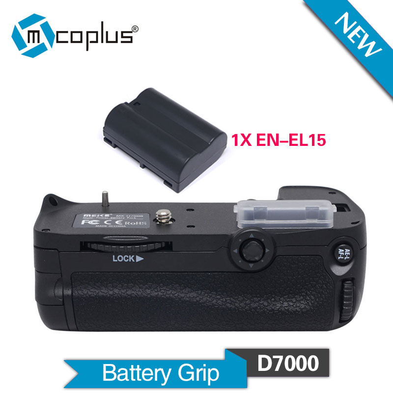 Mcoplus BG-D7000 Multi-function Vertical Battery Grip with 1pcs EN-EL15 Battery for Nikon DSLR D7000 Camera as MB-D11 MK-D7000 d7000 rear back cover shell with lcd button fpc for nikon d7000 for nikon