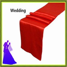 Фотография 30*275cm colorful satin table runner  banquet  for tables free shipping