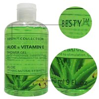 besty алоэ и витамин гель для душа алоэ органический натуральные экстракты гель для душа, 270 мл отбеливающая ароматный тела мытья тела для очистки