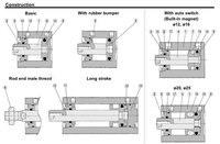 смц тип цилиндра cdqsb12-20д компактный цилиндр Van действия крыльями род 12-20 мм принять обычаи