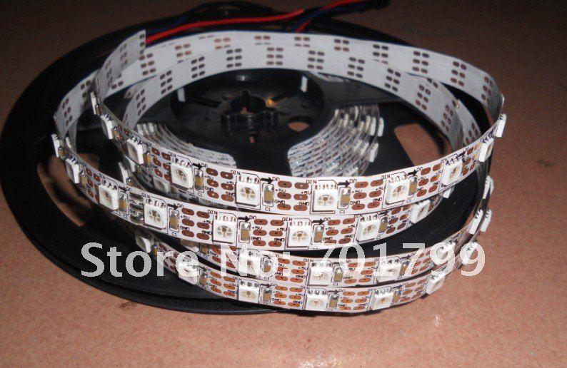 4 м WS2811 Светодиодный Цифровой полосы, 60 светодиодный s/m с 60 шт. WS2811 встроенный tthe 5050 smd rgb светодиодный чип. Не водонепроницаемый, DC5V вход