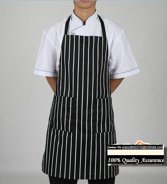 Black White Striped Chef Aprons Kitchen Aprons Family Hotels