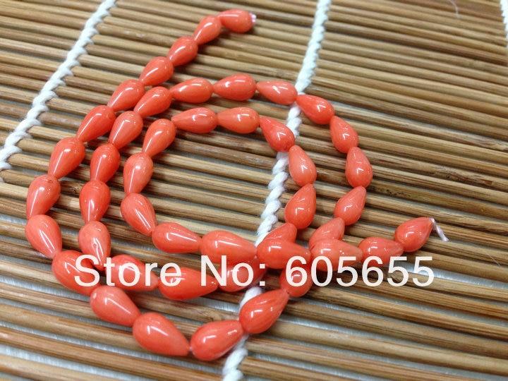 Оранжевый цвет Коралл 5x8 мм падение Бусины полудрагоценный камень Бусины для ювелирных изделий 10strands за лот