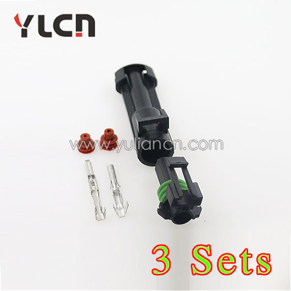 3 sets High Quality Connector 1Pin Pitch 2.65MM Female and Male Housing Terminal