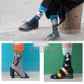 Princess sweet lolita  socks  Harajuku world oil painting individuality creative sky waves couple cotton socksDW37