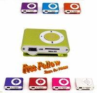 дешевые клип с карты памяти мини флэш-МР3-плеер, с USB-кабель + earphon 100 шт./лот бесплатная доставка е + distant быстро