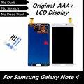 100% Original LCD blanco para Samsung Galaxy Note4 N910C N910F SM-N910 N910X pantalla para nota 4 IV reemplazo asamblea del digitizador
