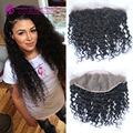 13x6 Lace Frontal 7A Brazilian Deep Curly Lace Frontal Closure With Baby Hair Bleached Knots Full Frontal Lace Closure USPS
