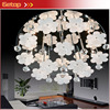 ZX Modern Circular K9 Crystal Ball Glass Flowers G4 LED Ceiling Lamp Sittingroom Bedroom Restaurant Lustre