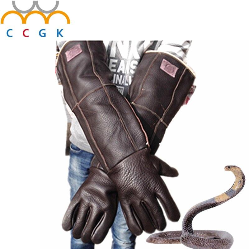 bilder für 2017 Anti biss handschuhe 60 cm sicherheit lange handschuhe plus dicke fangen tier wie hund, katze, kriechtier, schlange Haustier training fütterung handschuhe