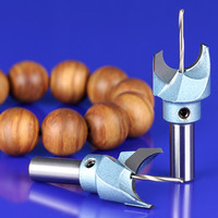 5 Pieces Solid Carbide Router Bit Buddha Beads Ball Knife Woodworking Tools Wooden Beads Drill Tool