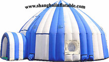 2016 colorful logo can be printed inflatable tent camping tent with high quality