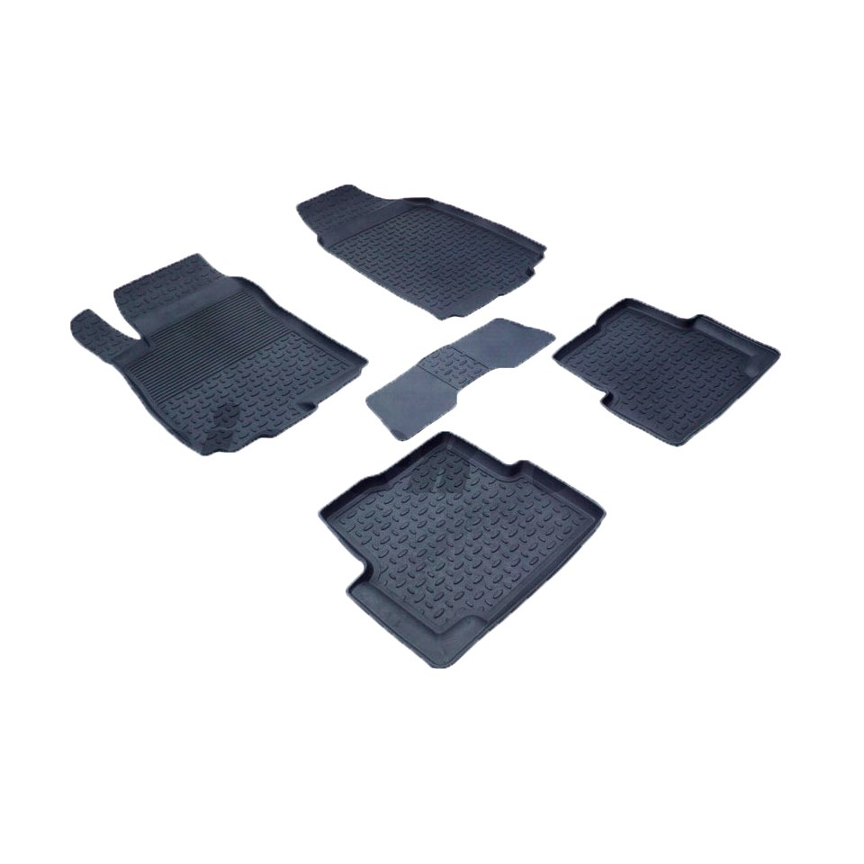 Rubber floor mats for Chevrolet Aveo T300 2011 2012 2013 2014 2015 2016 Seintex 82910 все цены