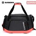 Suissewin Brand Girls Travel Tote Bag Women Men Big Shoulder Bag Large Capacity Lightweight Pink/Gray Portable Duffel Bag