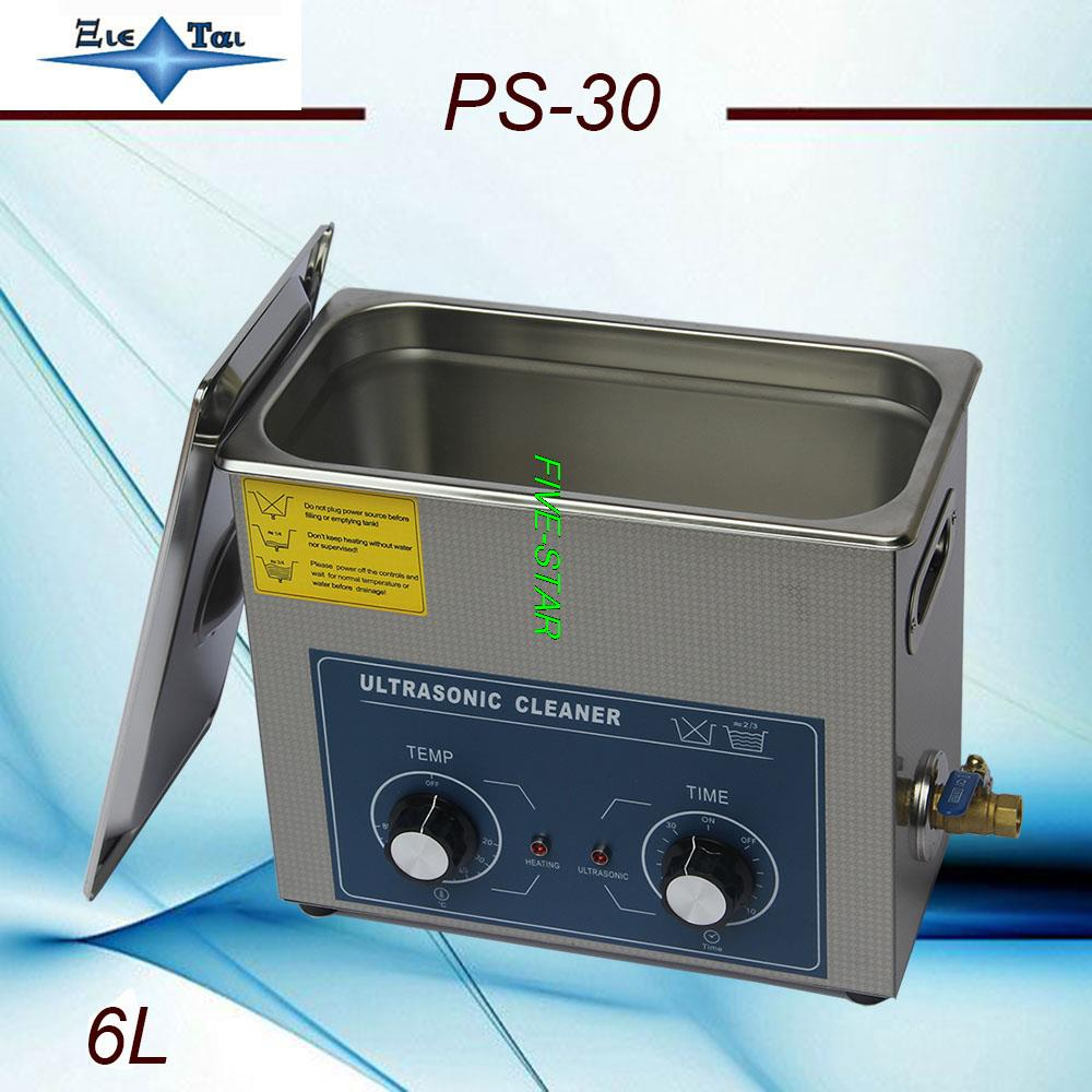 Newest free shipping Jietai brand PS 30 AC110 220v Ultrasonic cleaner 6L 40KHZ for small parts