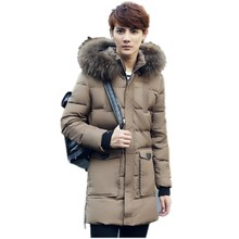 Paragraph cotton grows in winter 2016 new men hooded men down cotton-padded clothes thick coat