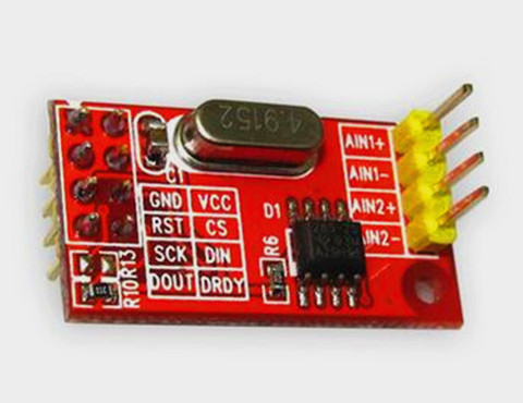 Free Shipping!!! 5pcs AD7705 dual 16-bit ADC data acquisition module / programmable input gain / SPI interfaces TM7705