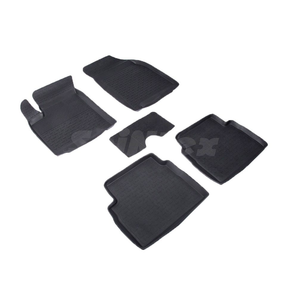 Rubber floor mats for Chevrolet Aveo 2003 2005 2006 2009 2010 Seintex 01473 rubber floor mats for chevrolet niva 2002 2004 2006 2008 2009 seintex 84834