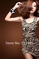 мода печать лето женская di Charm зебра металлик процессора платья мини платье ну watering юбка Top юбка # c61104