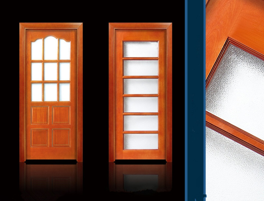 Online get cheap wood glass entry doors Modern glass doors interior
