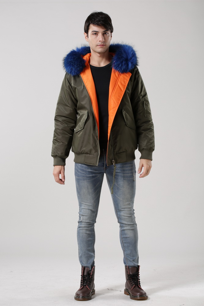 New Stylish Bomber Jacket Reversible Wear Women Or Men Winter Jacket With Real Collar