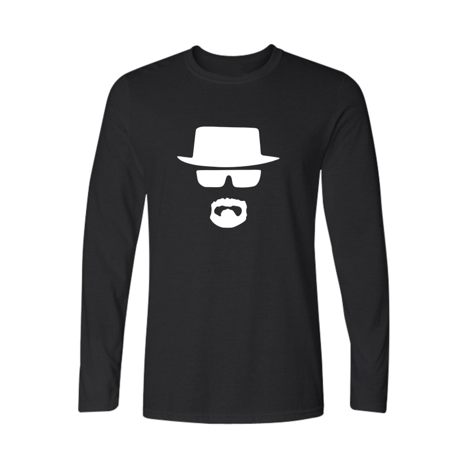 Fashion Walter White in Breaking Bad Long Sleeve t-shirt Men Hip Hop Men Shirt 2016 Spring Autumn in Soft Cotton Tees and Tops image