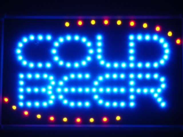 led004-b COLD BEER Bar OPEN LED Neon Light Sign Wholesale Dropshipping